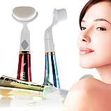 Ультразвуковая щетка для умывания и чистки лица Pobling face cleaner КРАСНАЯ, фото 4
