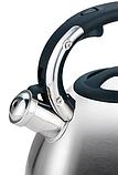 Чайник зі свистком з нержавіючої сталі Maestro MR-1334 (3 л)   металевий чайник Маестро, Маестро, фото 2
