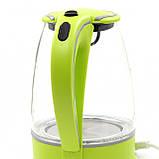 Стеклянный электрочайник Maestro MR-064 (1.7 л, 2000 Вт, подсветка) | электрический чайник Маэстро зеленый, фото 5