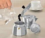 Гейзерна кавоварка з кованого алюмінію - 6 чашок Benson BN-156, фото 3