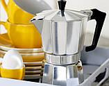 Гейзерна кавоварка з кованого алюмінію - 9 чашок Benson BN-157, фото 3