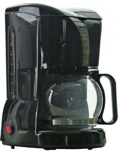 Кофеварка капельная MAESTRO MR-401 черная | кофемашина Маэстро, Маестро (800 Вт, на 10-12 чашек, с подсветкой)