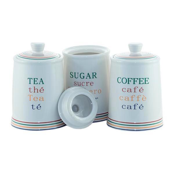 "Набір ємностей для цукру, кави і чаю ""For you"" Maestro MR-20031-03CS (3 шт) | кухонні баночки"