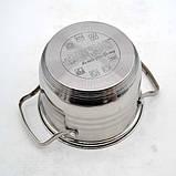 Набір каструль з нержавіючої сталі 8 предметів Benson BN-202 (2,1 л, 2,9 л, 3,9 л, 6,5 л) | каструля, фото 4