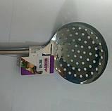 Шумовка из нержавеющей стали Benson BN-268   столовые приборы   кухонные ложки   ложка из нержавейки, фото 4