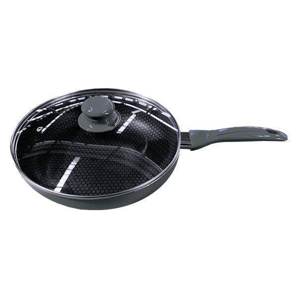 Сковорода антипригарная с крышкой Rainbow Maestro MR-1202-28 | сковородка Маэстро, Маестро светло-серая