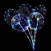 Світиться повітряна куля на паличці   надувний кулька зі світлодіодами BoBo Balloon