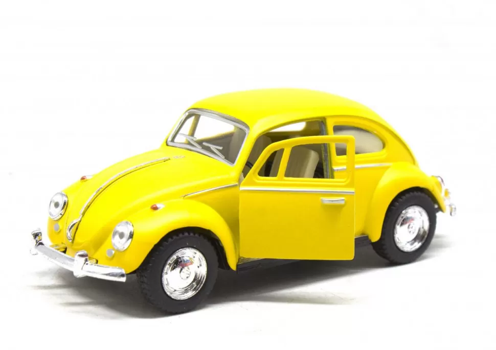 Игрушечная машинка металлическая Kinsmart KT5057WM Volkswagen Beetle Желтый