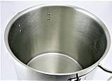 Большая кастрюля с крышкой из нержавеющей стали Benson BN-601 (12 л) | посуда для кафе и ресторана Бенсон, фото 5