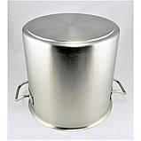 Большая кастрюля с крышкой из нержавеющей стали Benson BN-601 (12 л) | посуда для кафе и ресторана Бенсон, фото 6