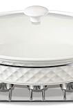 Мармит настольный керамический MAESTRO MR-11059-74   блюдо с подогревом на подставке Маэстро, Маестро, фото 4