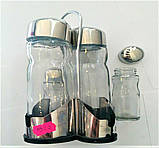 Набір сіль/перець Benson BN-1022   набір для спецій на підставці   солонка і перечниця Бенсон, фото 2