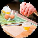 Набір для варіння яєць без шкаралупи Eggies   формочки для варіння яєць 6 шт   фільтр, фото 6
