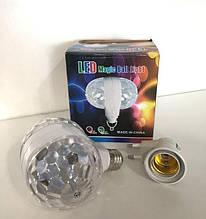 Світломузика диско куля Magic Ball 2015-1   дискошар   світлодіодна обертається дисколампа