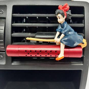 Ароматизатор в авто. Метла, девушку, ведьмочка.