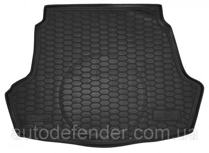 Килимок в багажник для Kia Optima IV 2016-2020гумовий (AVTO-Gumm)