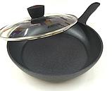 Сковорода с антипригарным мраморным покрытием с крышкой Benson BN-342 (28 см)   сковородка Бенсон, фото 5