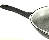Сковорода Benson BN-493 з мармуровим антипригарним покриттям, з кришкою (28 см) | сковорідка Бенсон, фото 4
