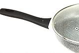 Сковорода Benson BN-495 (28 см) з кришкою, антипригарне гранітне покриття | сковорідка Бенсон, фото 2