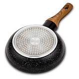 Сковорода Benson BN-522 с антипригарным мраморным покрытием (20 см)   сковородка Бенсон, фото 3