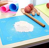 Силиконовый коврик для выпечки Benson BN-021 (30*40см) | коврик кондитерский Бенсон | коврик для теста Бэнсон, фото 2
