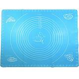 Силиконовый коврик для выпечки Benson BN-021 (30*40см) | коврик кондитерский Бенсон | коврик для теста Бэнсон, фото 4