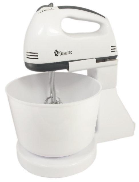 Ручной кухонный миксер Domotec DT 1366 с чашей | ручной мини кухонный комбайн