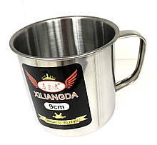 Кружка з нержавіючої сталі Benson BN-672 (висота 9 см) | чашка Бенсон | металева кружка Бэнсон