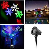 Лазерний проектор для будинку Led Strahler Schneeflocke Z2 | гірлянда лазерна підсвічування для будинку, фото 5