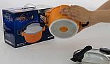 Кастрюля Barton Steel BS 4024 3,8 л с керамическим покрытием Оранжевая | Соковарка для приготовления сока, фото 3