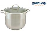 Кастрюля Bohmann ВН 3425 24 л с крышкой нержавеющая сталь, фото 3