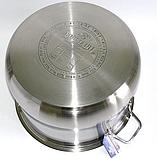 Кастрюля Bohmann ВН 2621 11,5 л с крышкой нержавеющая сталь, фото 4