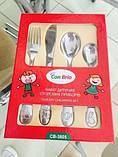 Набір дитячих столових приладів Con Brio CB-3805 4 предмета ложки вилка ніж, фото 2