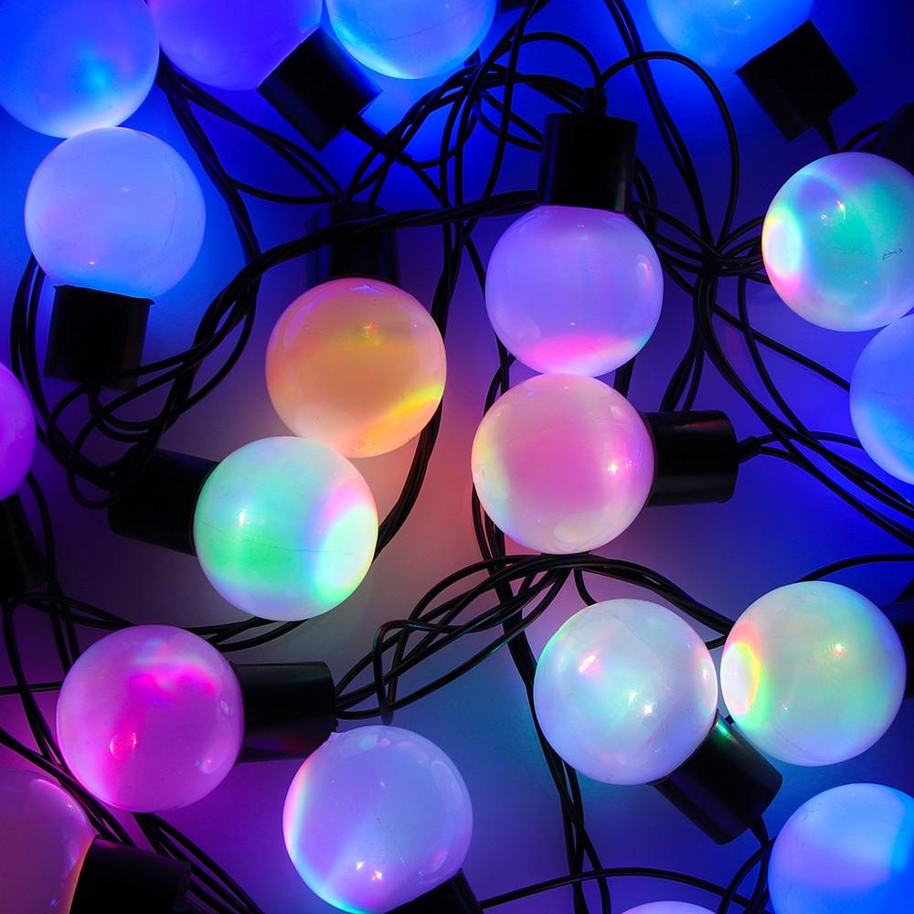 Гірлянда матовий кулька 28LED 5м (флеш) 10мм, Новорічна бахрама, Світлодіодна гірлянда, Вулична гірлянда