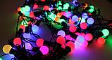 Гірлянда матовий кулька 28LED 5м (флеш) 10мм, Новорічна бахрама, Світлодіодна гірлянда, Вулична гірлянда, фото 5