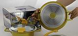 Набор кастрюль Barton Steel ВS 6914 4 предмета кастрюли 2,1/3,3 с крышками, фото 2