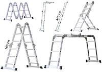 Многофункциональная алюминиевая лестница 3.4 м 4х3 Masko А1