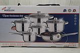 Набор кухонной посуды Bohmann ВН 70613-12 12 предметов 4 кастрюли ковш сковорода с крышками, фото 3