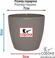 Вазон для цветов Алеана Матильда 7*6см какао 0,3л (Горшок для цветов пластиковый Алеана Матильда), фото 2