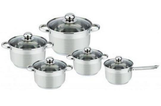 Набір кухонного посуду Bohmann ВН 1275-10 10 предметів 4 каструлі і ківш з кришками