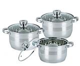 Набор кухонной посуды Bohmann ВН 71275 N 12 предметов 6 кастрюль с крышками, фото 2