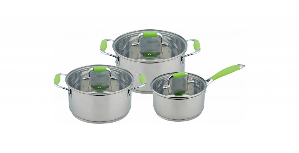 Набір кухонного посуду Con Brio CB-1150 6 предметів 2 каструлі з кришками ківш