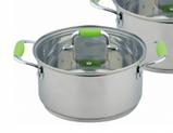 Набір кухонного посуду Con Brio CB-1150 6 предметів 2 каструлі з кришками ківш, фото 2
