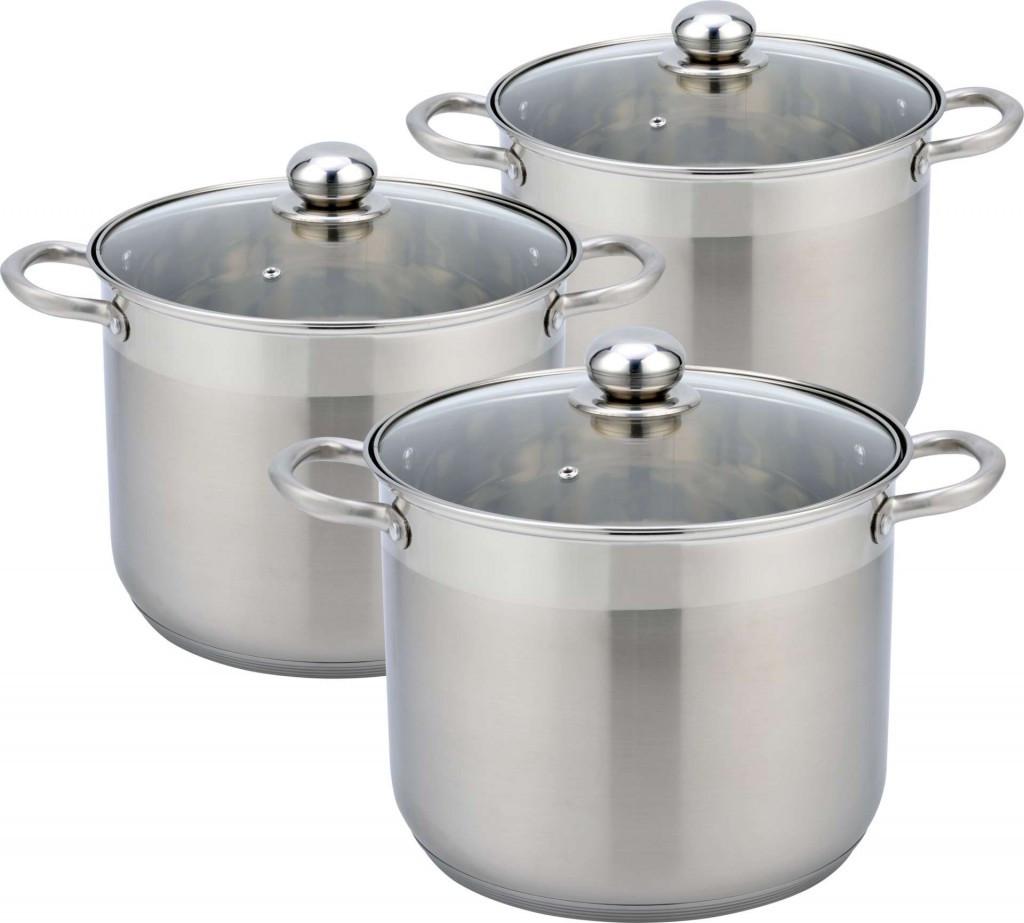 Набір кухонного посуду Con Brio CB-1153 6 3 предмета каструлі з кришками
