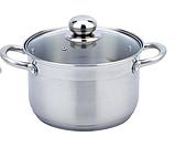 Набір кухонного посуду Con Brio CB-1153 6 3 предмета каструлі з кришками, фото 2