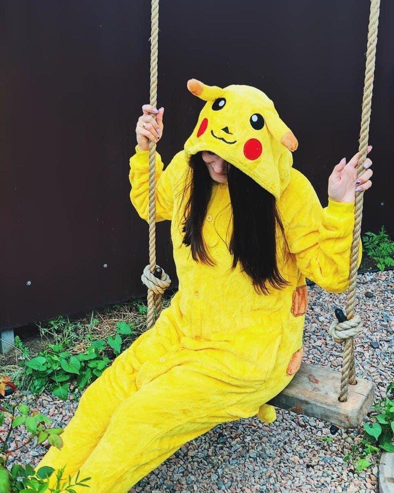 Детская пижама Кигуруми Покемон Пикачу 130 (на рост 128-138см)
