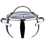 Набор посуды Maestro MR-3501-6L, 6 предметов, нержавеющая сталь   кастрюли с крышками Маэстро, фото 4