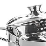 Набор посуды Maestro MR-3510-6L, 6 предметов, нержавеющая сталь | кастрюли с крышками Маэстро, Маестро, фото 2