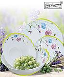 "Столовый набор ""Васильки"" Maestro MR-30066-19S (19 предм)   кухонные тарелки Маэстро   набор тарелок Маестро, фото 3"