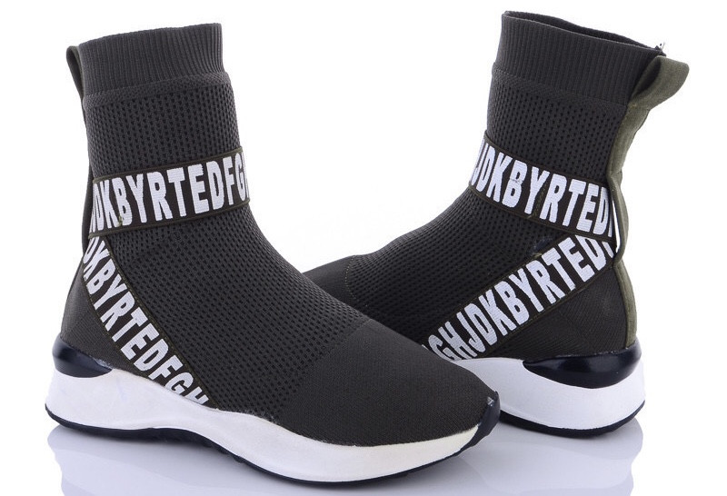Високі жіночі кросівки без шнурівки.Хит продажу!!!Чорні